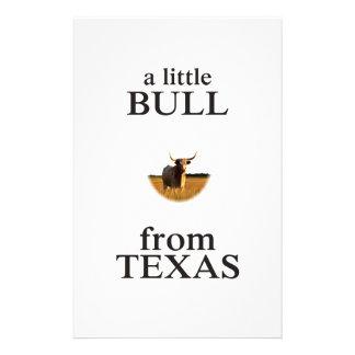 Een kleine Stier van Texas Briefpapier
