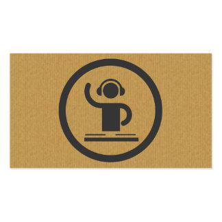 Een koel kartonDJ- pictogramvisitekaartje Visitekaartjes