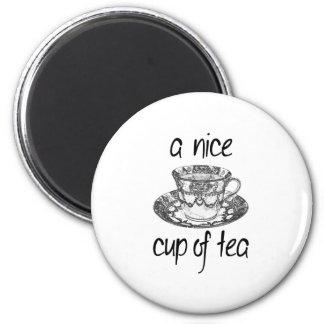 Een kop thee van Nice Magneet