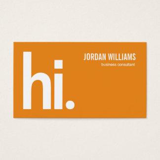 Een krachtig hallo - Modern Visitekaartje -