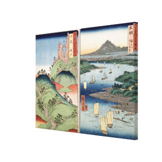 Een landschap en een zeegezicht canvas print