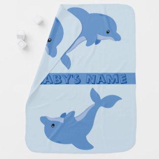 Een leuke Gelukkige Dolfijn Inbakerdoek