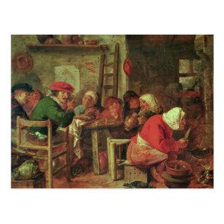 Een maaltijd van de Boer Briefkaart