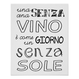 Een maaltijd zonder Wijn… Poster