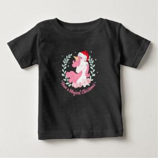 Een magische Eenhoorn | van Kerstmis Overhemd Baby T Shirts
