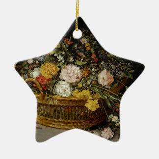 Een mand van Bloemen - Jan Brueghel Jonger Keramisch Ster Ornament