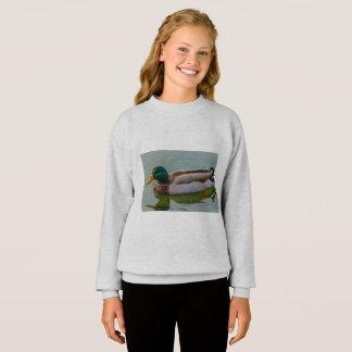 een mannetje van   wilde eenden op het Sweatshirt