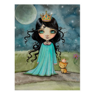 Een meisje en Haar Art. van de Fantasie van de Briefkaart