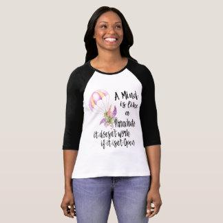Een mening is als een Valscherm, werkt het niet T Shirt