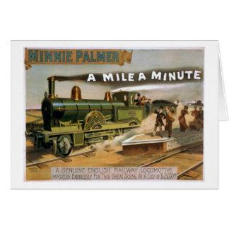 """Een """"mijl een Miniem"""" Vintage Poster van de Trein Kaart"""