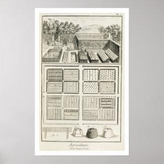 Een moestuin, van de 'Encyclopedie van Scie Afdruk