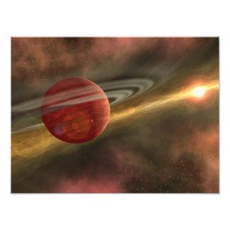 Een mogelijke pas ontdekte planeet foto kunst