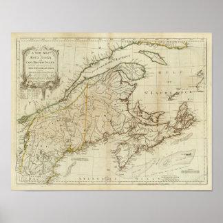 Een nieuwe Kaart van Nova Scotia, en het Bretonse  Poster