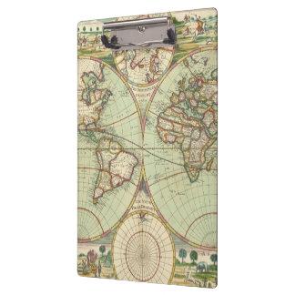 Een nieuwe mapp van de wereld - Atlas Klembord