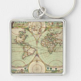 Een nieuwe mapp van de wereld - Atlas Sleutelhanger