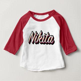 Een NIKITA ontwerp van het naamlogo Baby T Shirts