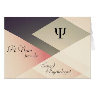 Een nota van de Psycholoog van de School Briefkaarten 0