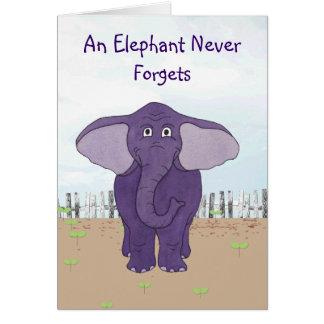 Een olifant vergeet nooit - de Speciale Kaart van