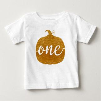 """Één "" |One Éénjarige Baby|new baby| Gouden T-shirt"