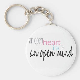 Een open Hart is een open mening Sleutelhanger