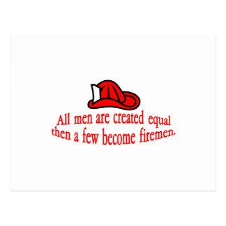 Een paar Brandweerman Briefkaart