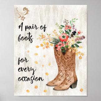 Een paar Laarzen voor Elke Gelegenheid Poster