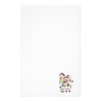 een paar leuke moo koeien briefpapier