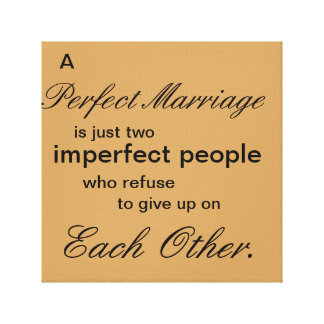 Een perfect Huwelijk Canvas Prints