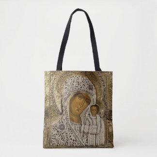 Een pictogram die Virgin van Kazan tonen Draagtas