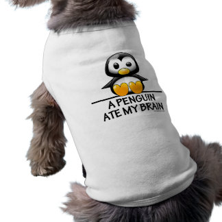 Een pinguïn at Mijn Hersenen Mouwloos Hondenshirt