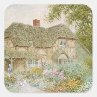 Een plattelandshuisje van Surrey Vierkante Sticker