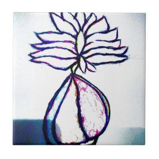 Een Polyphonic Hart van Lotus door Helderheid Keramisch Tegeltje