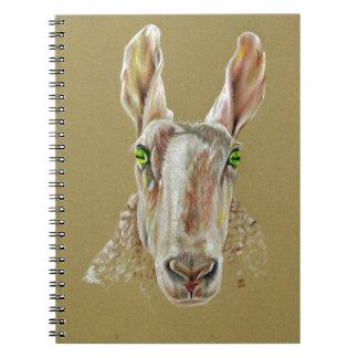 Een portret van een schaap ringband notitieboek