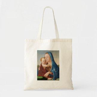 Een portret van Mary en Baby Jesus Budget Draagtas