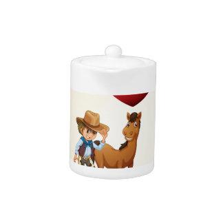 Een poster die de liefde van een paard tonen