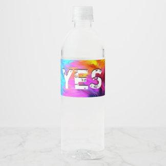 Een prachtige Hoop Waterfles Etiket