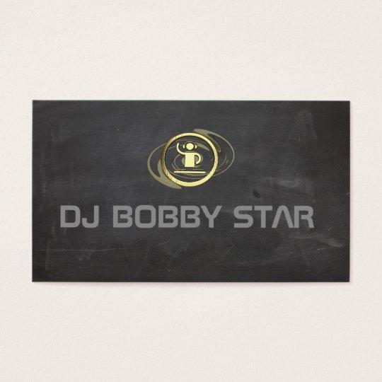 Een proffesioneel goud DJ pictogram visitekaartje Visitekaartjes