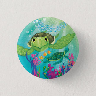 Een redding van de Schildpad van het Zee Ronde Button 3,2 Cm