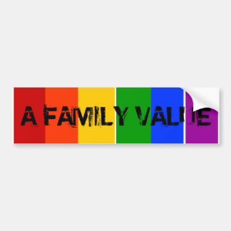 EEN REGENBOOG LGBT VAN DE WAARDE VAN DE FAMILIE VR BUMPERSTICKER