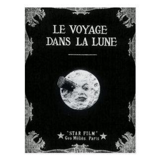Een reis aan de Vintage Retro Franse Bioskoop van Briefkaart