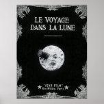 Een reis aan La Retro Lune van de Maan of van Le Poster