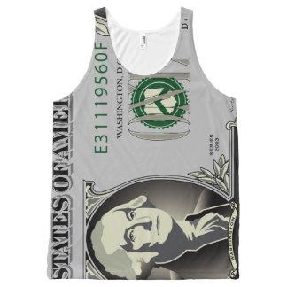 Één Rekening van de Dollar van de V.S. All-Over-Print Tank Top