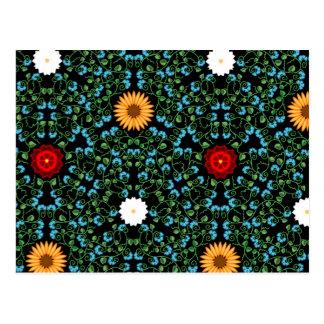 Een rel van bloemen wenskaarten
