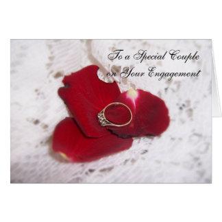 Een ring van de Diamant van de Kaart van het