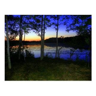 Een rivier bij Schemer Briefkaart