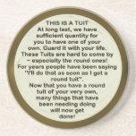 Een rond onderzetter van Tuit ~