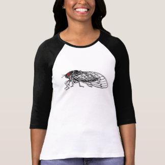 Een rood Eyed Overhemd van de Cicade voor Dames T Shirt