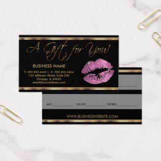 Een roze Lippenstift van het Certificaat van de Visitekaartjes
