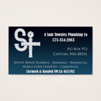 Een SAM Townley Plumbing Company Visitekaartjes