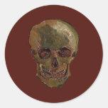 Een schedel door Vincent van Gogh Ronde Stickers